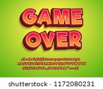 3d typeface game logo tittle... | Shutterstock .eps vector #1172080231