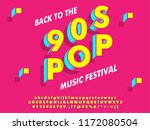 90s style font effect with... | Shutterstock .eps vector #1172080504