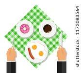 breakfast concept  businessman... | Shutterstock .eps vector #1172083564