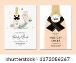 vector chic holiday cards.... | Shutterstock .eps vector #1172086267