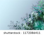 rame from eucalyptus leaves of... | Shutterstock .eps vector #1172086411