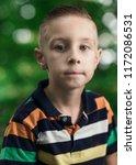 fine art portrait of a boy | Shutterstock . vector #1172086531