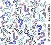 quiz seamless pattern. question ...   Shutterstock .eps vector #1172088877