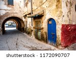 Small photo of In the former Jewish quarter of Mellah in Essaouira, Morocco, the doors of dilapidated buildings are condemned
