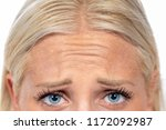forehead frowned blond hair | Shutterstock . vector #1172092987