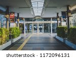 the entrance of aero plaza in... | Shutterstock . vector #1172096131