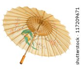 Oriental Umbrella Isolated On...