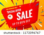 sale banner template red | Shutterstock .eps vector #1172096767