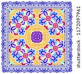 decorative colorful ornament on ... | Shutterstock .eps vector #1172097961