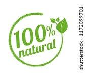 100  natural logo symbol ...   Shutterstock .eps vector #1172099701
