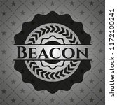 beacon realistic black emblem | Shutterstock .eps vector #1172100241