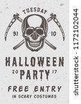 vintage retro halloween scary... | Shutterstock . vector #1172102044