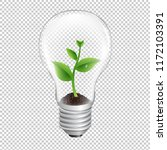 bulb with green sprout...   Shutterstock . vector #1172103391