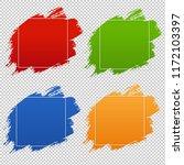 colorful blobs banner set...   Shutterstock . vector #1172103397