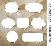 speech bubble set   Shutterstock . vector #1172103424