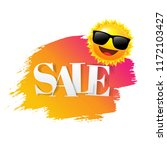 sale text with paint sun and...   Shutterstock . vector #1172103427
