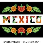 mexico illustration typography... | Shutterstock .eps vector #1172105554