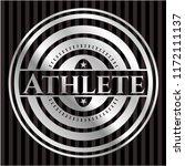 athlete silver badge   Shutterstock .eps vector #1172111137