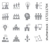 business training icons. gray... | Shutterstock .eps vector #1172111704