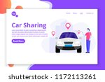 car sharing  transport renting... | Shutterstock .eps vector #1172113261