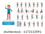 vector young adult man in...   Shutterstock .eps vector #1172113591