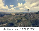 ski lifts during the summer... | Shutterstock . vector #1172118271