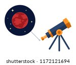 space telescope looking at mars ... | Shutterstock .eps vector #1172121694