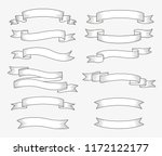set of ribbon banners. hand... | Shutterstock .eps vector #1172122177