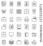 thin line vector icon set  ... | Shutterstock .eps vector #1172123071