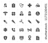 icon set   healthcare and...   Shutterstock .eps vector #1172130451