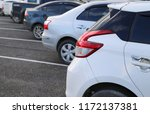 closeup of rear side of white... | Shutterstock . vector #1172137381