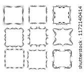 set of vector vintage frames on ... | Shutterstock .eps vector #1172140414