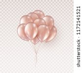 balloons isolated on... | Shutterstock .eps vector #1172141521