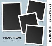 polaroid square photo frames on ... | Shutterstock .eps vector #1172143801