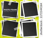 square photo frames on a bright ... | Shutterstock .eps vector #1172144164