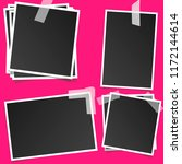 polaroid square photo frames on ... | Shutterstock .eps vector #1172144614