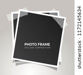 square photo frames on a gray... | Shutterstock .eps vector #1172145634