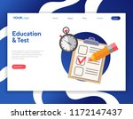 online test and education icon... | Shutterstock .eps vector #1172147437