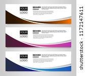 vector abstract design banner... | Shutterstock .eps vector #1172147611