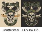 skull t shirt print concept... | Shutterstock .eps vector #1172152114