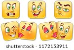 cartoon faces collection.... | Shutterstock .eps vector #1172153911