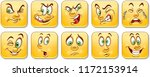 cartoon faces collection.... | Shutterstock .eps vector #1172153914