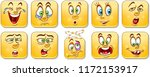 cartoon faces collection.... | Shutterstock .eps vector #1172153917