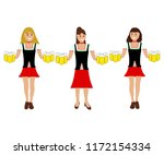 girls with beer at the... | Shutterstock . vector #1172154334