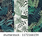 set of three seamless floral... | Shutterstock .eps vector #1172166154