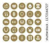 jewelry flat glyph icons ... | Shutterstock .eps vector #1172166727