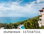 turquise sea. sunny scenery... | Shutterstock . vector #1172167111