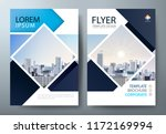 annual report brochure flyer... | Shutterstock .eps vector #1172169994