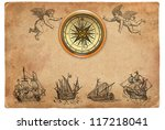 pirate map illustration | Shutterstock . vector #117218041