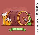 oktoberfest festival beer...   Shutterstock .eps vector #1172184724